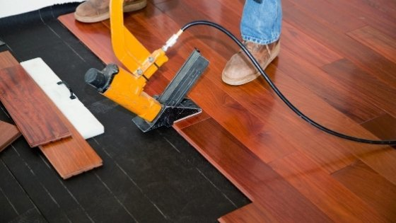installing-hardwood-flooring over concrete